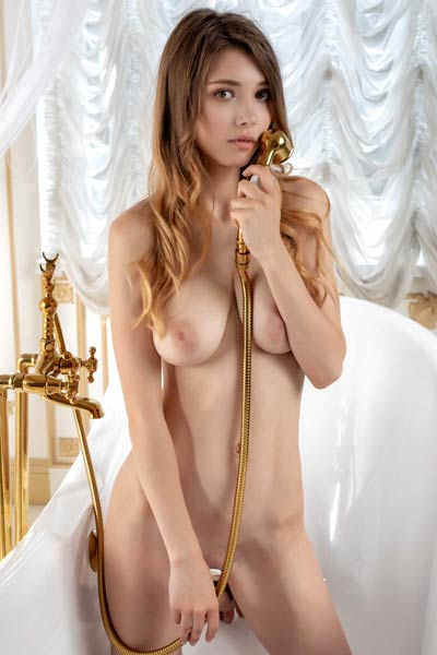 Model Mila Azul in White Star